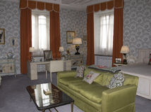 Chambre à coucher de Leeds Castle Image stock