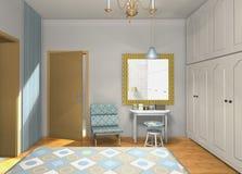 Chambre à coucher de mélange et de match Photos stock