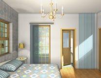 Chambre à coucher de mélange et de match Photo libre de droits