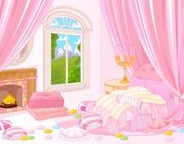 Chambre à coucher douce illustration de vecteur