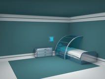 Chambre à coucher futuriste d'enfant Images libres de droits
