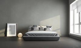 Chambre à coucher grise Image stock