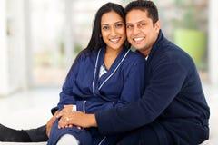 Chambre à coucher indienne de couples Image libre de droits