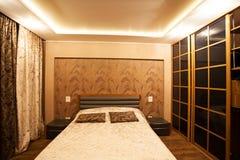 Chambre à coucher intérieure Photographie stock libre de droits