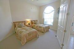 Chambre à coucher jumelle Image libre de droits