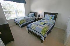 Chambre à coucher jumelle Image stock