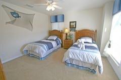Chambre à coucher jumelle Images stock