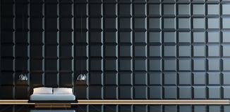 Chambre à coucher minimale moderne Image stock