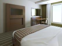 Chambre à coucher minimaliste de style Photo libre de droits