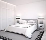 Chambre à coucher moderne Image libre de droits