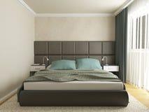 Chambre à coucher moderne Photos libres de droits