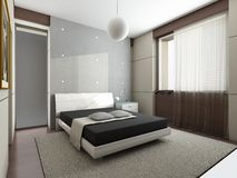 chambre à coucher moderne illustration libre de droits