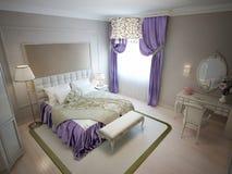 Chambre à coucher moderne dans le style néoclassique illustration de vecteur