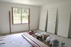 Chambre à coucher non finie Image stock