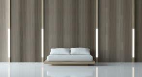 Chambre à coucher paisible moderne Photographie stock libre de droits