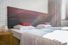 Chambre à coucher pendant le matin Photos libres de droits