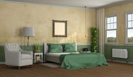 Chambre à coucher principale élégante photographie stock