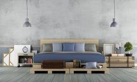 Chambre à coucher principale dans le style rustique illustration libre de droits