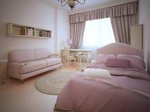 Chambre à coucher romantique pour la fille d'adolescent Photographie stock