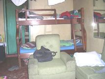 Chambre à coucher simple de Roomed Images stock