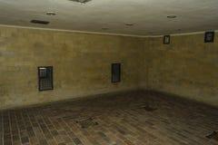 Chambre à gaz dans Dahau, Allemagne Photos stock