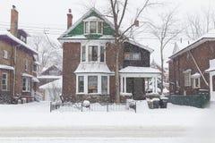 Chambre à Toronto pendant une tempête de neige image stock