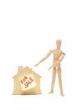 Chambre à vendre avec le fond blanc Photo libre de droits