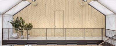 Chambre écologique - murs de polycarbonate, conservation d'énergie illustration stock