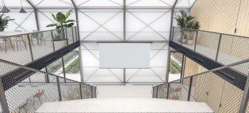 Chambre écologique - murs de polycarbonate, conservation d'énergie illustration libre de droits