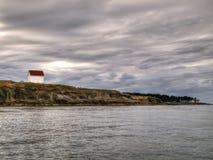 Chambre abandonnée de garde de phare Images stock