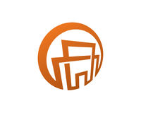 Chambre abstraite Logo Template Design Vector, emblème, concept de construction, symbole créatif, icône Photo stock