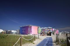 Chambre Art Basel 2017 de platine de Miami Beach American Express Image libre de droits