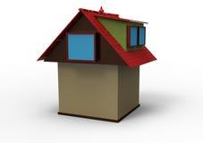 Chambre avec le toit rouge Image libre de droits