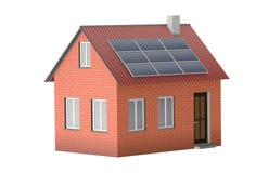 Chambre avec les panneaux solaires illustration de vecteur
