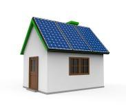 Chambre avec les panneaux solaires Images libres de droits