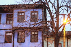 Chambre bleue Photos libres de droits