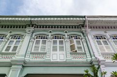 Chambre colorée de ` de Peranakan de ` à Singapour images libres de droits