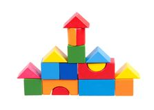 Chambre construite avec des blocs Image stock