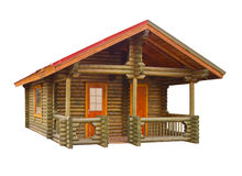 Chambre construite des logarithmes naturels photographie stock