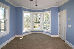 Chambre à coucher avec la vue Photo libre de droits