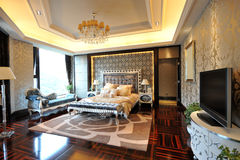 Chambre à coucher principale de luxe Photos stock