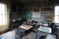 Chambre d'école de cabine de logarithme naturel, Cody, WY Photographie stock