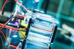 Chambre d'électrophorèse Photos stock