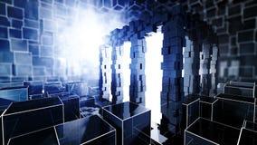 Chambre d'énergie de la science-fiction illustration de vecteur