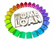 Chambre d'achat d'hypothèque d'argent d'emprunt de prêt immobilier Photo stock