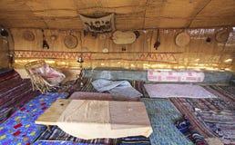 Chambre d'amis traditionnelle dans le caravansérail de village de Farafra en Egypte Photos libres de droits