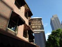 Chambre d'antan d'huître des syndicats du YE, Boston, le Massachusetts, Etats-Unis Photos libres de droits