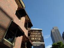 Chambre d'antan d'huître des syndicats du YE, Boston, le Massachusetts, Etats-Unis Images libres de droits