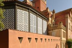 Chambre d'Antoni Gaudi et musée en parc Guell Image stock