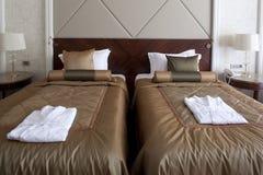Chambre d'hôtel de double bâti Photo stock